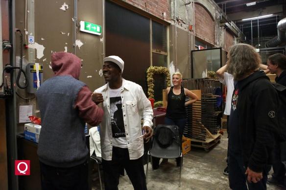 Kurtis Blow backstage @ Hall of Fame, Tilburg, NL