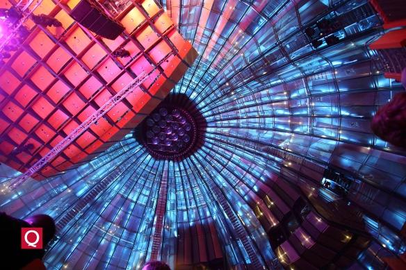 Glaskuppel der Tonhalle mit 38 m Durchmesser